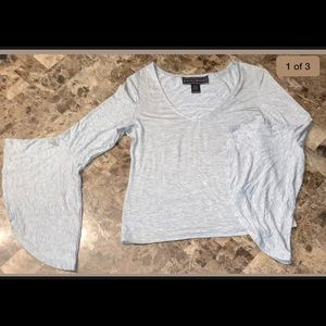 Polly Esther top, gray size large